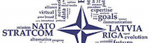 What has the NATO StratCom COE in Latvia been involved in?