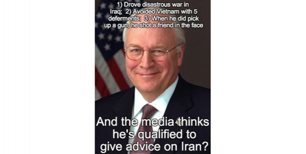 DICK CHENEY.  no statue honoring a war profiteer